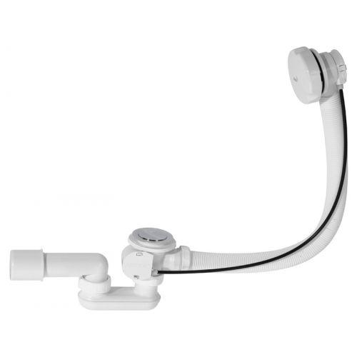 Сифон для ванны автомат комплект белый Alca Plast