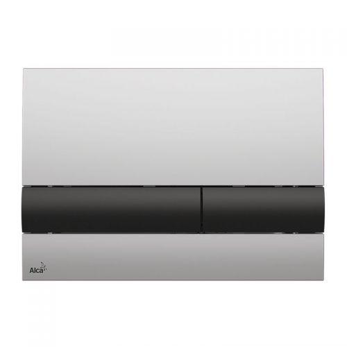 Кнопка управления (хром матовая/черная) Alca Plast