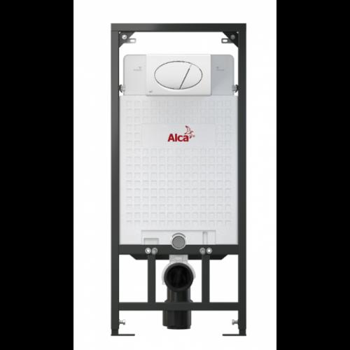 Скрытая система инсталляции  Alca Plast в комплекте с белой кнопкой