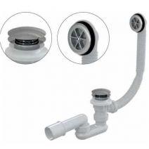 Сифон для ванны click-clack, металл–пластик Alca Plast