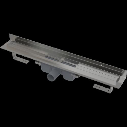 Душевой канал с порогами для цельной решетки и фиксированным воротником к стене, 300мм Alca Plast