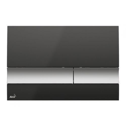 Кнопка управления (черная/хром-матовая) Alca Plast