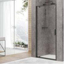 Дверь в нишу Devit Art 90*190, профиль черный, стекло прозрачное 6 мм