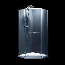 Душевая кабина Devit Comfort с распашной дверью, в хроме, без поддона 900*900*1900 мм