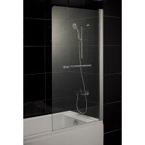 Шторка на ванну 80*150 левая/правая, профиль хром, стекло тонированное 5мм