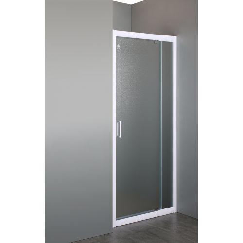 Дверь в нишу распашная 70~80*185 см, профиль белый регулируемый, стекло Zuzmara  5мм