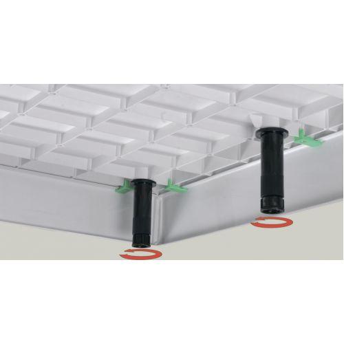 Комплект ножек (9 шт.) и креплений лицевой панели для квадратных поддонов 8080S, 9090S и поддона 9080S