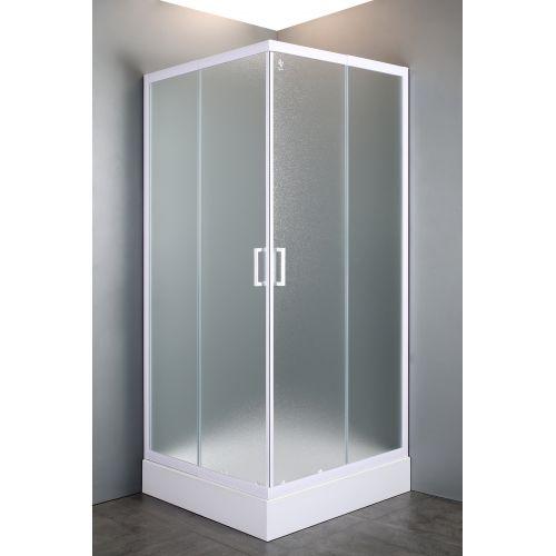 """VI'Z угловая угловая квадратная душевая кабина 80~90*185 см, регулируемый белый профиль, стекло """"Zuzmara"""" (стекла+двери"""