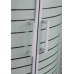 "TISZA (AMUR) душевая кабина угловая округлая, 90*90*200, на мелком поддоне 15 см, профиль белый, стекло ""Frizek"" 4 мм"