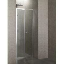 Дверь bifold 90*185, профиль хром, стекло прозрачное 5 мм