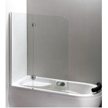 Шторка на ванну 120*150 левая/правая, профиль хром, стекло прозрачное 6 мм