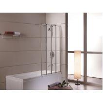 Шторка на ванну 89*140, профиль сатин, стекло прозрачное 5 мм