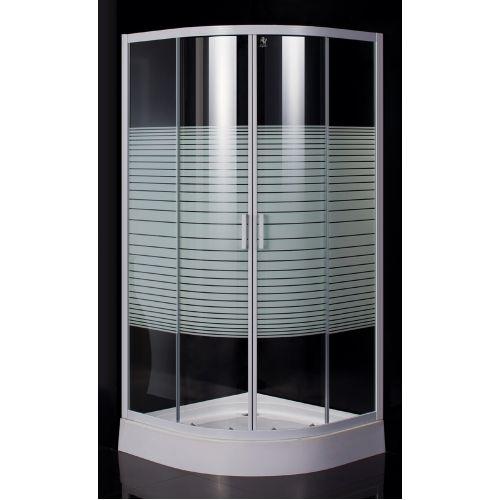 """TISZA (AMUR) душевая кабина угловая 90*90*185, профиль белый, стекло """"Frizеk"""" (стекла+двери)"""