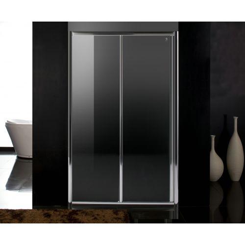 Дверь в нишу раздвижная 120*185, профиль хром, стекло прозрачное 5 мм