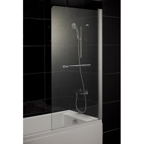 Шторка на ванну 80*150 левая/правая, профиль хром, стекло прозрачное 5 мм