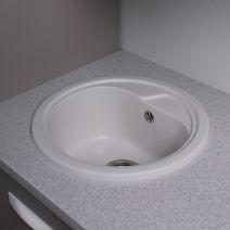 Кухонная мойка Fancy Marble Nevada белый