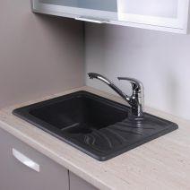 Кухонная мойка Fancy Marble Filadelfia светло черный