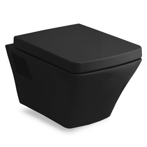 Унитаз подвесной черный VOLLE TEO в комплекте с сиденьем slow-closing