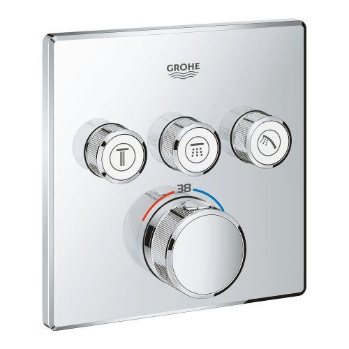 Смеситель термостатический скрытого монтажа на 3 выхода Grohe Grohtherm SmartControl 29126000