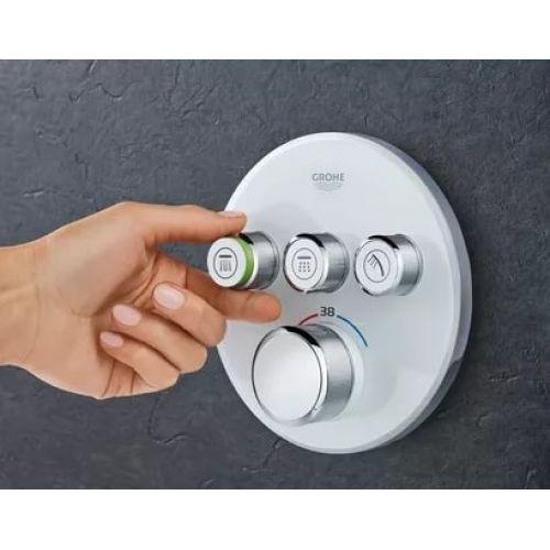 Смеситель термостатический встраиваемого монтажа на 3 выхода Grohe Grohtherm SmartControl 29121000