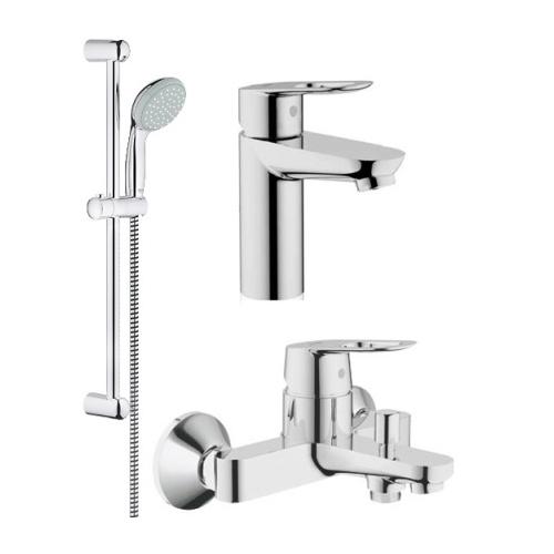 Набор смесителей для ванны Grohe BauLoop 123214 (рак23337+ван32815+темп27598)