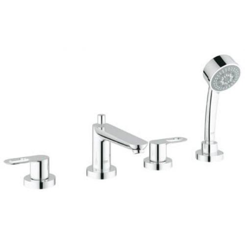 Смеситель для ванны на 4 отверстия с душ. набором Grohe BauLoop , хром