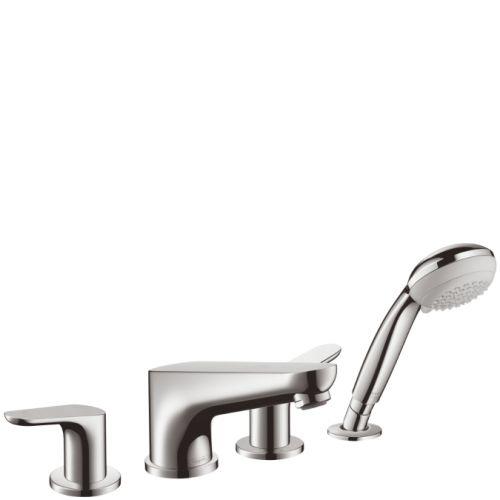 Смеситель на борт ванны на 4 отверстия Hansgrohe Focus, хром