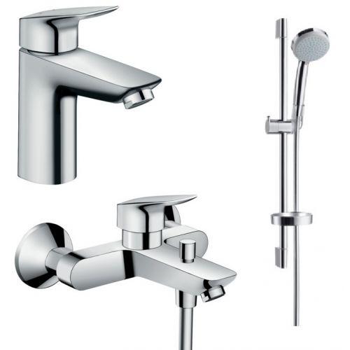 Набор смесителей для ванны Hansgrohe Logis (71100000+71400000+27772000)