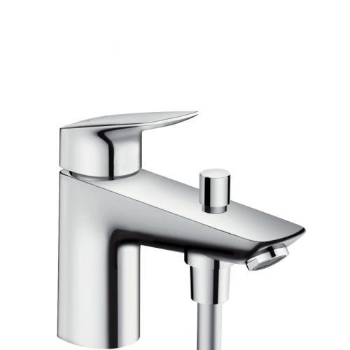 Смеситель на борт ванны Hansgrohe Logis Monotrou с переключателем на душ