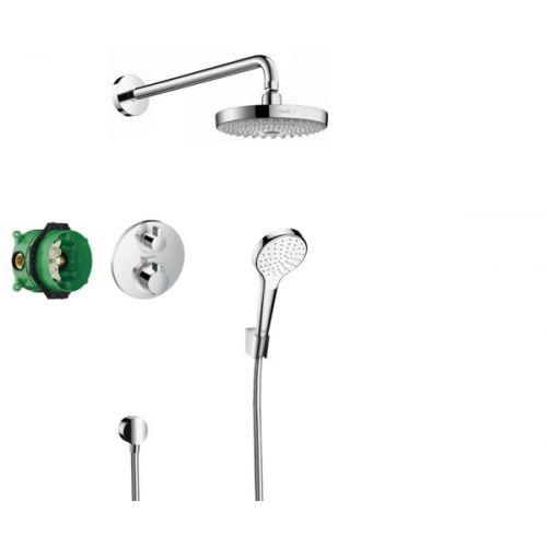 Душевой набор Hansgrohe ShowerSet Croma Select S/Ecostat S (верхний, ручной душ, ibox, термостат)