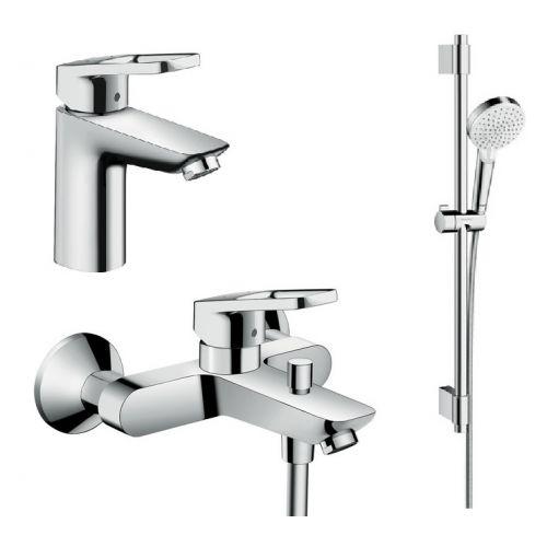 Набор смесителей для ванны Hansgrohe Logis Loop, умывальник 100 (71151000+71244000+27353400)