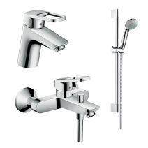Набор смесителей для ванны Hansgrohe Logis Loop, умывальник 70 (71150000+71244000+26553400)