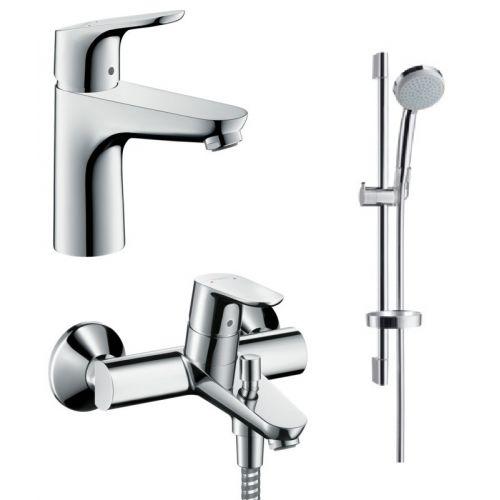 Набор смесителей для ванны Hansgrohe Focus (31607000+31940000+27772000)