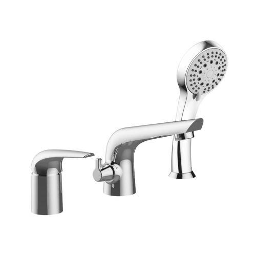Imprese KRINICE смеситель для ванны, врезной, на три отверстия, хром, 35 мм