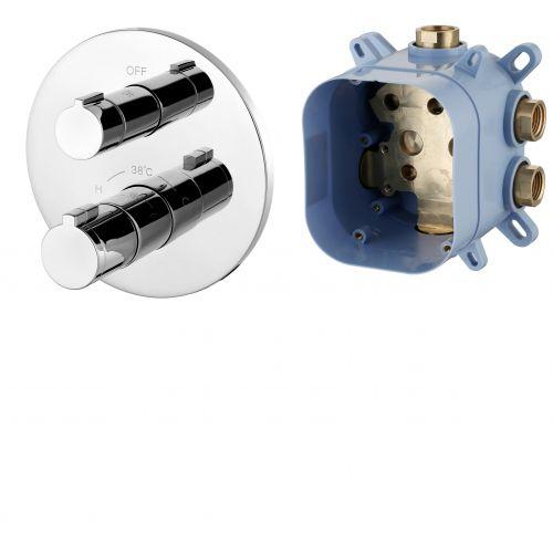 Смеситель для ванны, термостат, скрытый монтаж  Imprese CENTRUM (1 потребитель), форма R