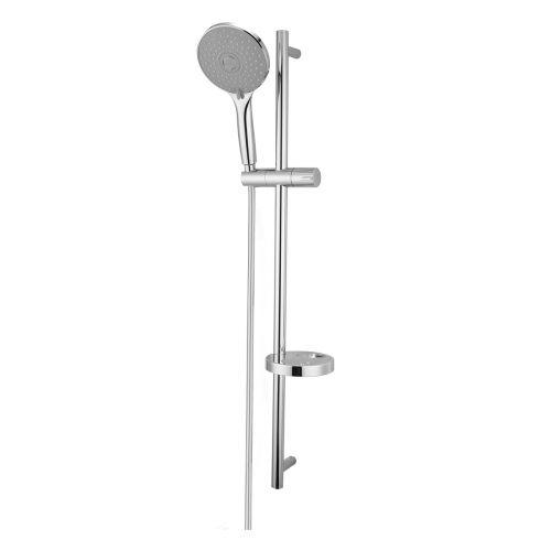 Imprese Штанга душевая IMPRESE NETKA L-90см,мыльница,ручной душ 3 реж,шл 1,5м полимер с мет.эффектом вращ.конус(Anti-Twist)бли