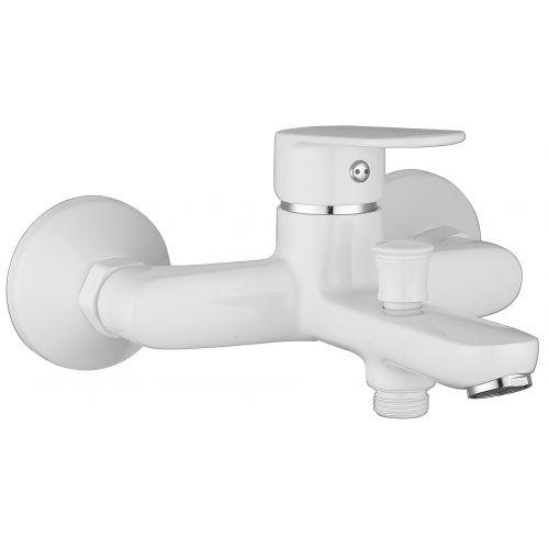 Imprese LASKA cмеситель для ванны, белый, 35 мм