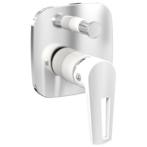 Смеситель скрытого монтажа для ванны Imprese BRECLAV , хром/белый, 35мм