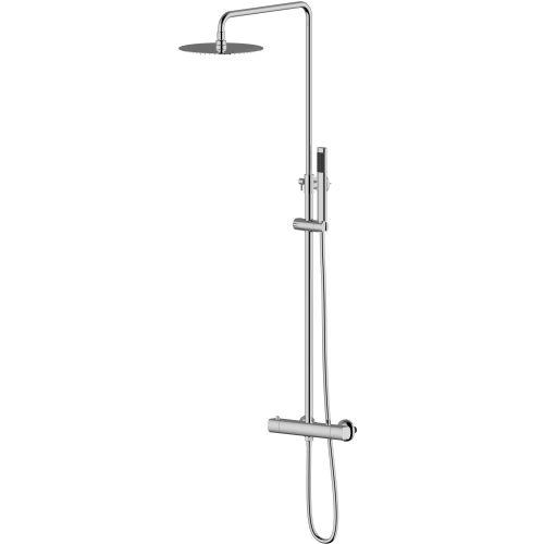 система душевая Imprese CENTRUM (смеситель-термостат для душа, верхний и ручной душ 1режим, шланг полимер)