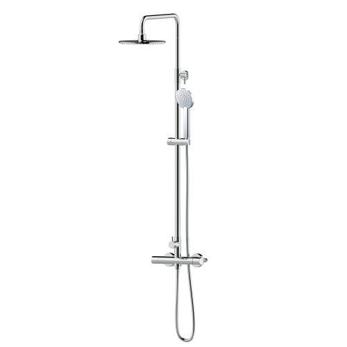 Imprese CENTRUM система душевая (смеситель-термостат для душа, верхний и ручной душ 1режим, шланг полимер)