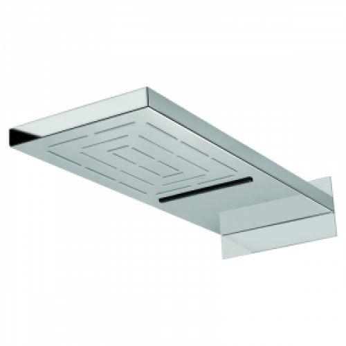 Верхний душ Maze прямоугольный 550х200мм, настенный, хром