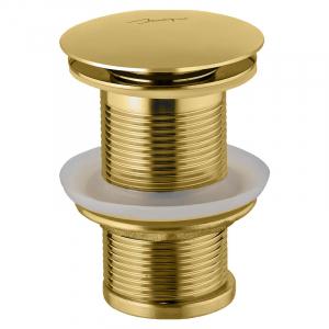 Слив для умывальника Click-Clack, б/перелива, золото