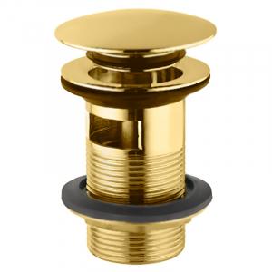 Слив для умывальника Click-Clack, с переливом, золото