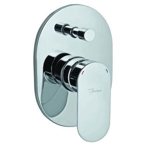 Верхняя часть смесителя скрытого монтажа для ванны Opal Prime, хром