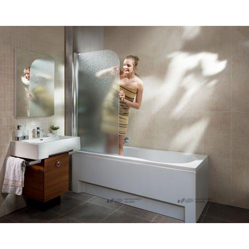 Шторка для ванны Koller Pool QP93 75х140 полир. Матовая (левая/правая)