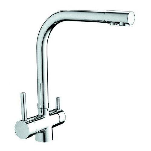 Cмеситель для мойки с поворотным изливом Koller Pool DESIGN PLUS, отдельный вывод для системы фильтрации очищенной воды