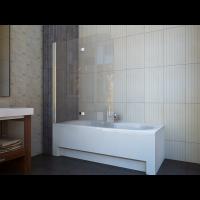 Шторка для ванны Koller Pool QP97 115x140 полир. Прозрачное (левая/правая)