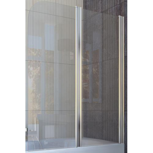 Шторка для ванны Koller Pool QP95 115x140 полир. Прозрачное (левая/правая)