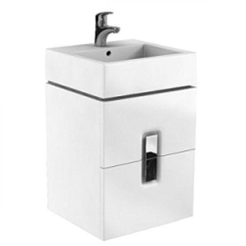 Шкафчик Kolo TWINS под умывальник 50 см с двумя ящиками, белый глянец