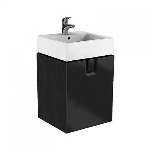 Шкафчик Kolo TWINS под умывальник 60 см с одним ящиком, черный мат